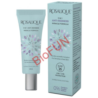 Crema / Fond de ten anti-roseata, cuperoza, 3 in 1, Spf 25